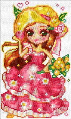 Cross Stitch   Girl xstitch Chart   Design
