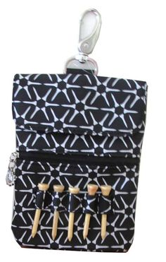 Meet our new Sunny Hawaii Ladies Clip-On Golf Accessory Bag featuring Black & White Golf Tee Print Clip on Pouch! #accessories #tees #lorisgolfshoppe