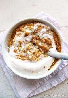 Pumpkin Pie Quinoa- This quick breakfast has all the flavors of pumpkin pie in a healthy breakfast form.   http://WorthCooking.net