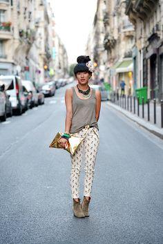 Isabel Marant Boots | Top Roseanna, Jean Zara, Bag Zara, Necklace H&M, Boots Isabel Marant