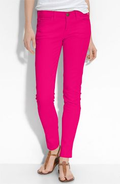 pink pants! perfect with a black or white tee or a nautical stripped shirt.  Even a flowery blouse.