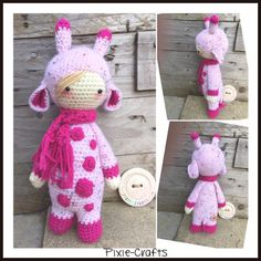 Pixie-Crafts • Pink Ginny giraffe available in the pixie shop...