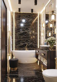 Modern Luxury Bathroom, Bathroom Design Luxury, Modern Bathroom Design, Modern House Design, Home Room Design, Home Design Decor, Home Interior Design, Home Decor, Washroom Design