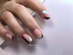 Interesting Geometric Nail Art Ideas, You Need To Try To Choose Is Endless - Page 16 of 21 - Dazhimen Aycrlic Nails, Chic Nails, Stylish Nails, Nail Manicure, Trendy Nails, Swag Nails, Hair And Nails, Classy Nails, Fabulous Nails