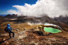 Emerald Lakes on Tongariro Alpine Crossing, New Zealand