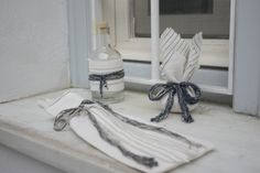 Baptism/Christening Oil Set/Ladoset/Set of Three Candles/Oil Bottle/Soap/Greek Orthodox Baptism Solid And Striped, Striped Linen, Fabric Ribbon, Linen Fabric, Oil Candles, Girl Christening, Oil Bottle, Keepsake Boxes, Soap