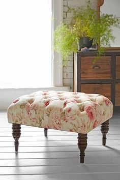 Halliday Floral Ottoman - Urban Outfitters