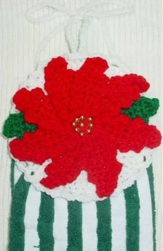 Festive crochet towel topper