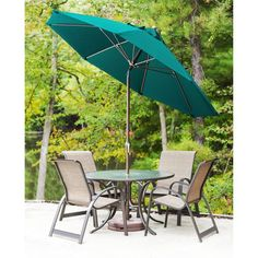 Frankford Umbrellas Monterey Collection 7.5 ft. Solid Commercial Fiberglass Market Umbrella with Crank Auto Tilt Pistachio - 845FMA-BZ-PTA