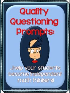 "FREEBIE!  Sometimes the key to getting students to think at a higher level means we need to ask them the right questions!    So often, we teach by ""telling"" instead of teaching by ""asking"". Sometimes we do too much of the work for the students! Do you feel you might give too much away with your coaching? Try printing off these questioning prompts and keeping them with you while you work with students."