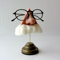 Albert Einstein, Mark Twain, God Almighty Nose Eyeglass Stand