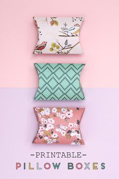 FREE PRINTABLE PILLOW BOXES - WITH FREE TEMPLATE