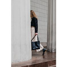 To the market or another hemisphere, the Karalie can get you there. Photographed by Shop here. Skagen, Womens Purses, Leather Handle, Minimalist Design, Purses And Bags, Normcore, Coat, Shopping, Fashion