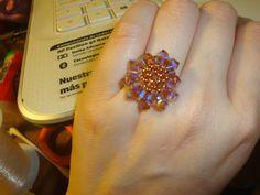 Smoked topaz Swarovski Ring handmade by @Chiiica_ via: https://www.facebook.com/pages/Chiiica