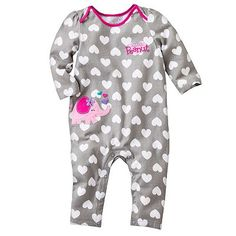 Jumping Beans Patterned and Ruffled Coveralls - Baby