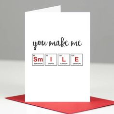 Are you interested in our valentine's day card? With our geeky romantic card – gulshen s Are you interested in our valentine's day card? With our geeky romantic card Are you interested in our valentine's day card? With our geeky romantic card Valentine Day Cards, Valentines Diy, Science Valentines, Funny Valentines Day Quotes, Love Cards, Diy Cards, Periodic Table Words, Periodic Table Project, Romantic Cards
