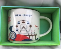 Starbucks New Jersey Coffee Mug 14 oz You are Here Collection New in Box #Starbucks