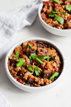 Stewed Eggplant Tomato Lentils Lentil Dishes, Lentil Stew, Tempeh, Eggplant Varieties, How To Peel Tomatoes, Vegetable Soup Recipes, Vegan Main Dishes, Eggplant Recipes, Stuffed Peppers