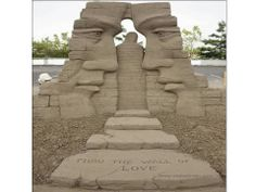 Amazing #Sand #Art, Art created by sand. View #amazing pics of sand #artist.