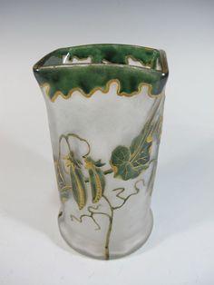 Antique Mont Joye St Denis Legras Cameo Glass Vase - D6868