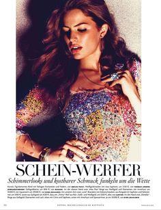 Schein - Werfer| Cameron Russell | Michelangelo Di Battista #photography | Vogue Germany July 2012