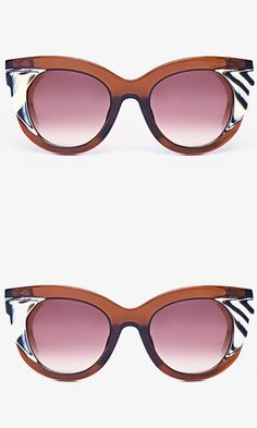 The oversized shape and beveled accents make these cat-eye sunglasses the kind of modern classic you'll want to wear forever