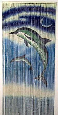 Bamboo Door Hanging with Dolphins
