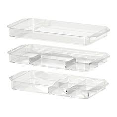 GODMORGON Storage unit, set of 3 IKEA Helps you organize lipsticks, creams, etc. Dishwasher safe. $15