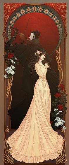 Art Nouveau Christine and Phantom