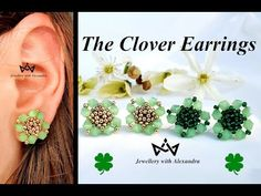 The Clover Earrings 🍀 How To Make Shamrock Stud Earrings With Seed Beads and Bicones 🍀 - YouTube Seed Beads, The Creator, Seeds, Handmade Jewelry, Pearl Earrings, Youtube, How To Make, Ear Rings, Earrings