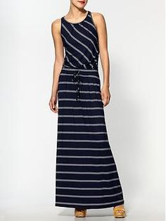 Love this maxi dress.  I think the same idea could be made with cap sleeves.
