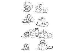 In esclusiva per D, vignette inedite tratte da Il grande libro di Simon's Cat di Simon Tofield, in uscita il 24 ottobre per Tea (416 pagine, 15 euro).