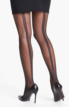 Star Power by SPANX® 'Center Stage' Metallic Back Seam Shaping Tights (2 for $38) available at #Nordstrom