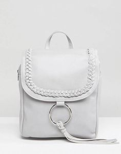 Glamorous Braid Detail Backpack With Ring & Tassel Detail