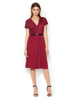 Jersey Belted Wrap Dress  Dress #Belt #Power #TuxedoWomen #Dresses