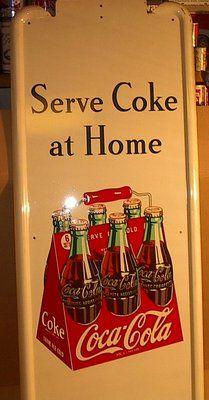 "1948 Coca Cola Advertizing Sign   41"" x 16"" (sold 805.00)"