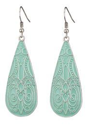 engraved turquoise drop earrings - maurices.com