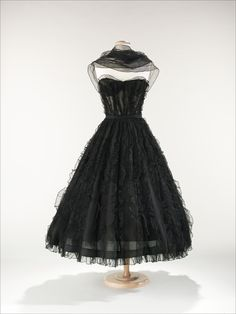 Coco Chanel dress ca. 1957 via The Costume Institute of the...