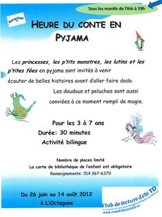 Evening pyjama story hour  - Bibliothèque L'Octogone, Lasalle QC