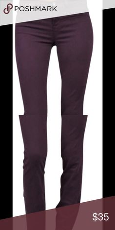 J Brand Skinny Jeans Size 26 Retail $198 J Brand Aubergine Deep Purple Color Skinny Jean Worn once size 26why pay full price? J Brand Jeans Skinny