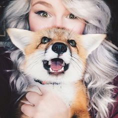 幸せそうな飼い狐ジュニパー