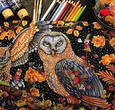 #Animorphia #Owls @omarabooks #colorbook detail