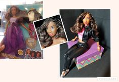 """Fresh Doll """"Gabrielle"""" gets a cornrowed bob and bad-girl clothes. Bright Pink Lips, Almost Always, Beautiful Dolls, Lip Colors, One Pic, New Hair, Fashion Dolls, New Look, Stylists"""