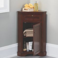 Weatherby Bathroom Corner Storage Cabinet