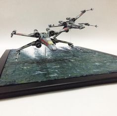 X wing with diorama water effect Star Wars Room, Star Wars Art, Maquette Star Wars, Gundam Wallpapers, Star Wars Models, Sci Fi Models, Model Train Layouts, Model Ships, Small World
