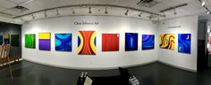 Panoramic Shot of my exhibit at Piermont Flywheel Gallery - January - February 16 Chris Johnson, Oil Painting Abstract, Exhibit, Abstract Expressionism, 30th, February, Contemporary, Gallery, Abstract Oil