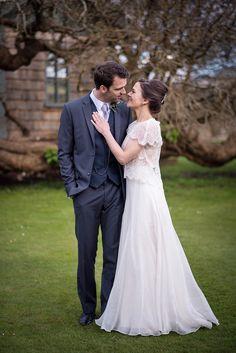 Dress Gown Bride Bridal Separates Top Skirt Limor Rosen Stylish Floral Barn Wedding http://www.sarareeve.com/