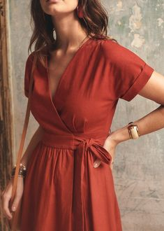 Wrap dress - Wrap dress Source by sensialime - Informations About Robe portefeuille - Robe portefeui Dress Outfits, Casual Dresses, Casual Outfits, Dress Up, Summer Dresses, Winter Dresses, Party Dresses, Summer Outfits, Kimono Dress