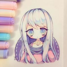Been kind of busy lately, but I'm also tired all the time >A< I think I use pink+purple in my drawings too much but they're my favourite colours atm and I just want to add them into everything, I'm just worried it's getting boring/repetitive so I want to change it up a little for my next drawing TwT - - - - - #chibi #copic #multiliner #copicmarkers #copicart