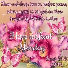 Have a great Monday! God Bless.